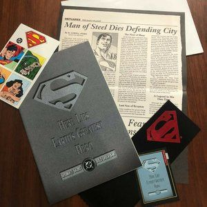 Superman Here Lies Earth's Greatest Hero RARE Set